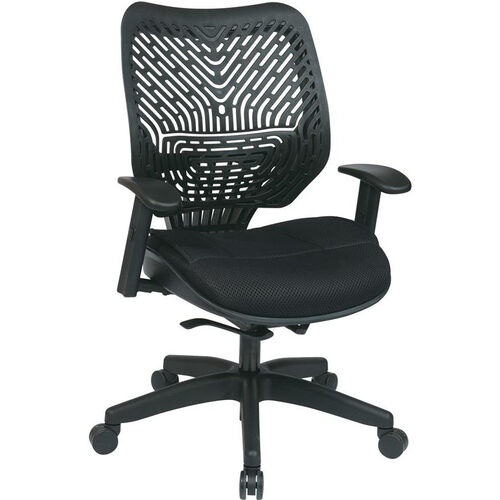 Our Space REVV Self Adjusting SpaceFlex Back and Mesh Seat Managers Chair with Adjustable Arms - Raven Back and Raven Seat is on sale now.