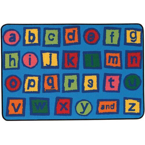 Our Kids Value Alphabet Blocks Rectangular Nylon Rug - 36