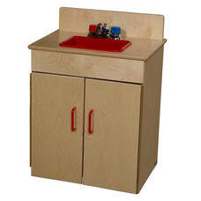 Pretend Play Healthy Kids Plywood Classic Sink - Assembled - 20.5