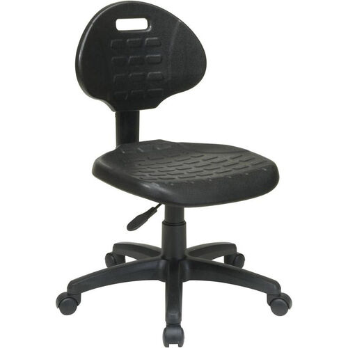 Our Work Smart Self-Skinned Urethane Armless Task Chair with Seat Back Height Adjustment - Black is on sale now.