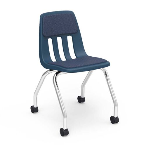 Our Quick Ship 9000 Classic Series Sedona Sailor Fabric and Navy Polypropylene Mobile Chair with 18