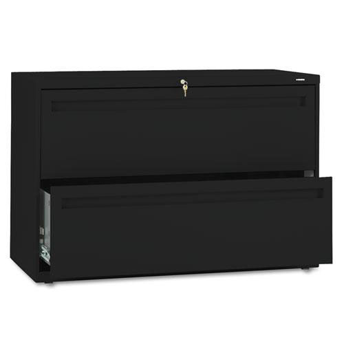 Our HON® 700 Series Two-Drawer Lateral File - 42w x 19-1/4d - Black is on sale now.