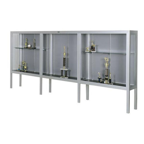 Premiere Series Freestanding 3 Door Display Case with Aluminum Legs - 144