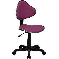 Lavender Fabric Ergonomic Swivel Task Chair