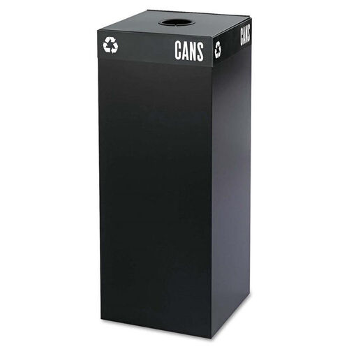 Our Safco® Public Square Recycling Container - Square - Steel - 37gal - Black is on sale now.