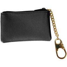 Coin and Key Holder Wallet - Top Grain Nappa Leather - Black