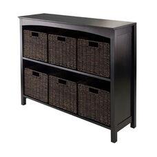 Terrace 7-Pc Storage 3-Tier Shelf with 6 Small Baskets