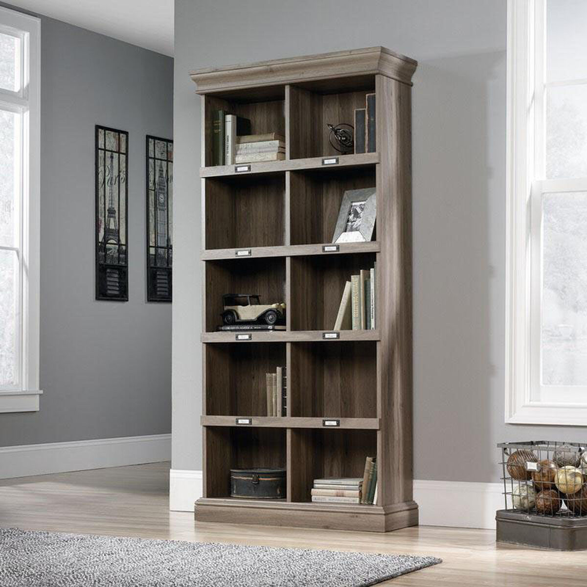 Bookcase Salt Oak 414108 Bizchair Com