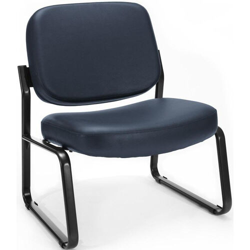 Our Big & Tall Guest and Reception Vinyl Chair - Navy is on sale now.