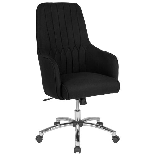 Our Albi Home and Office Upholstered High Back Chair in Black Fabric is on sale now.