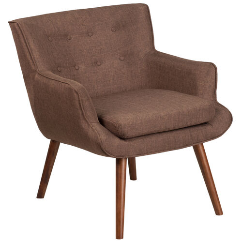 Our HERCULES Hayes Series Brown Fabric Tufted Arm Chair is on sale now.