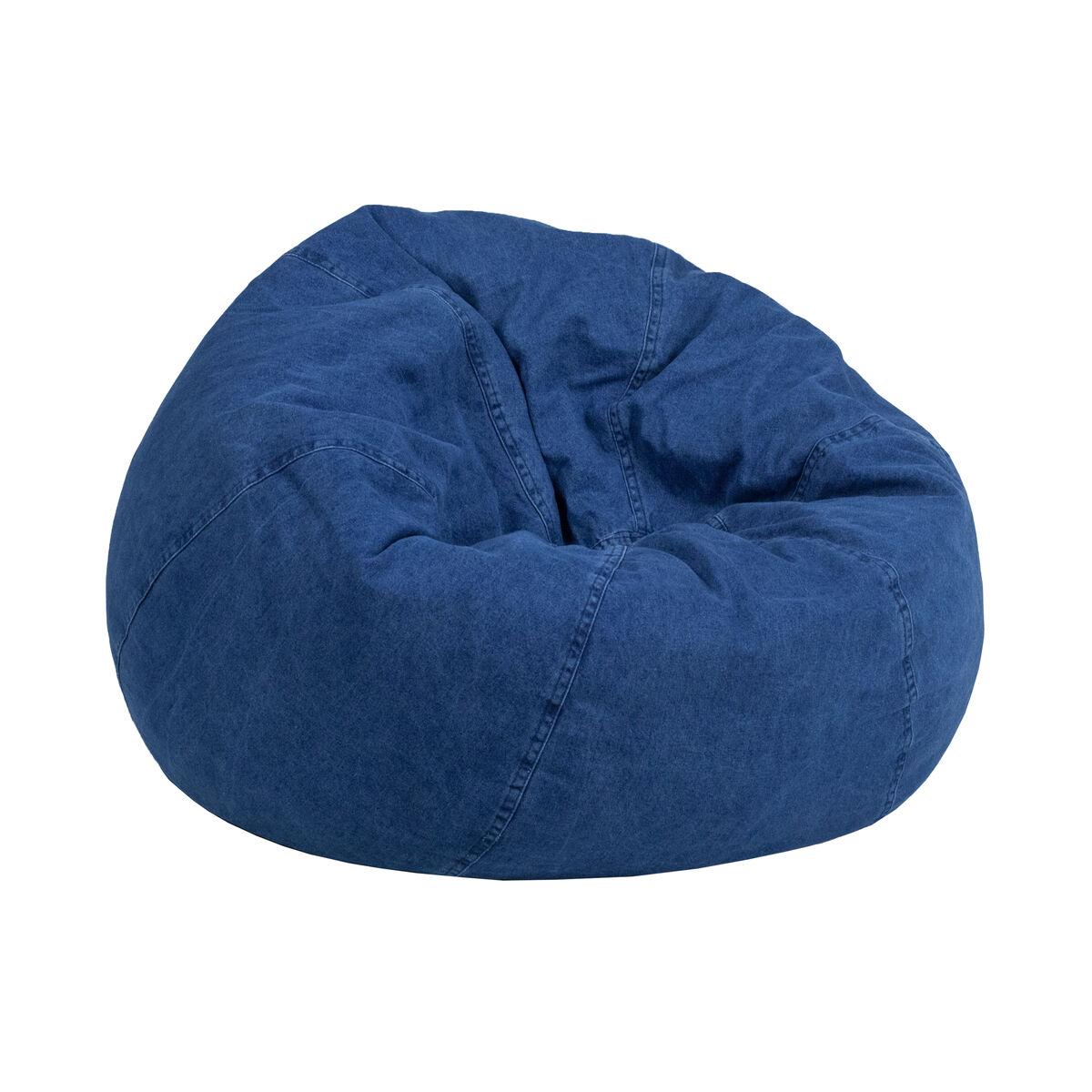 Denim Bean Bag Chair Dg Bean Small Denim Gg Bizchair Com