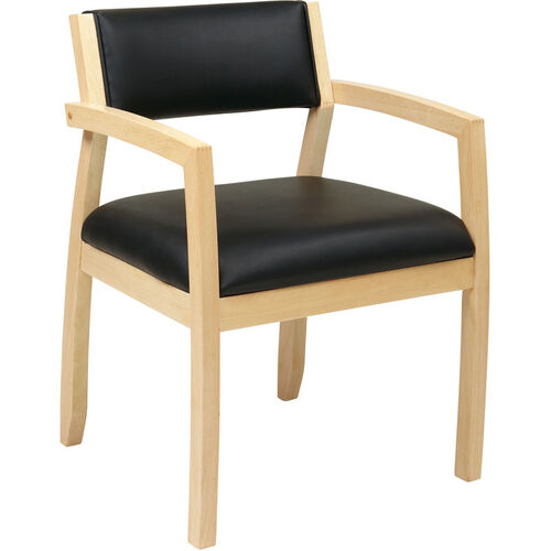 Our OSP Furniture Napa Bonded Leather Guest Chair With Upholstered Back - Maple is on sale now.