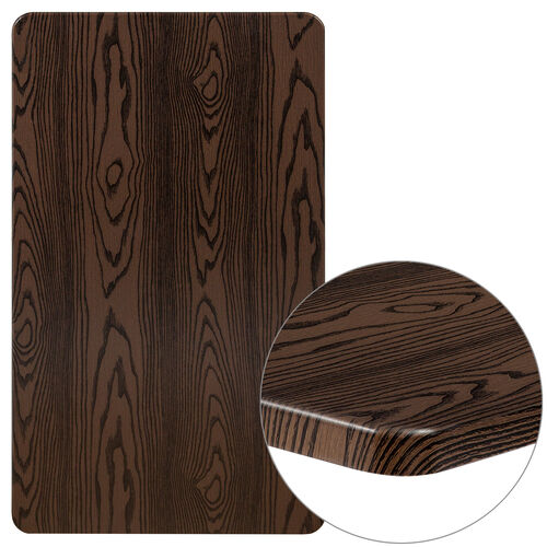 """Our 24"""" x 42"""" Rectangular Rustic Wood Laminate Table Top is on sale now."""