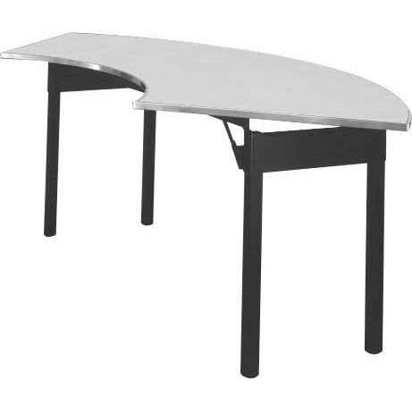Original Series Crescent Banquet Table With Aluminum Edge And Mayfoam Top    30