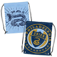 Philadelphia Union Team Logo Doubleheader Drawstring Backsack
