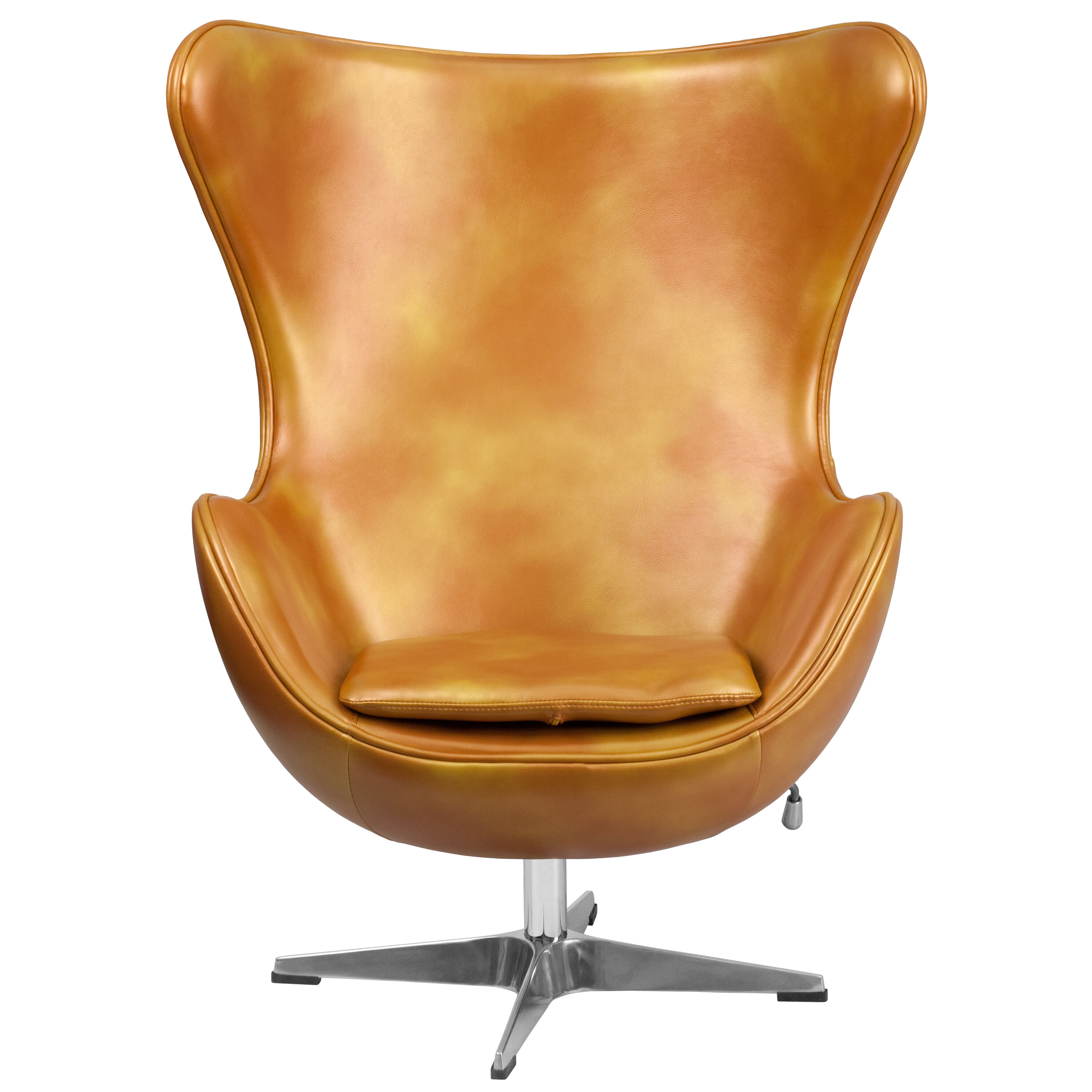 Our Gold Leather Egg Chair With Tilt Lock Mechanism Is On Sale Now.
