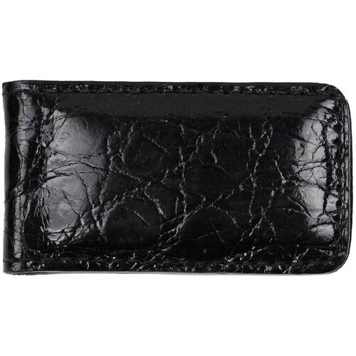Our Luxury Magnetic Money Clip Wallet - Genuine Crocodile Skin Leather - Black is on sale now.