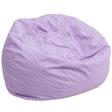 Oversized Lavender Dot Bean Bag Chair