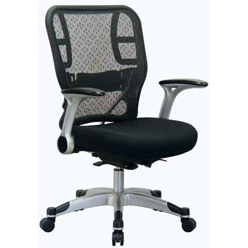 Our Space Deluxe R2 SpaceGrid® Back Task Chair with Mesh Seat and Flip Arms - Black is on sale now.