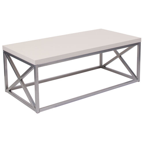 Our Park Ridge Coffee Table with Silver Finish Frame is on sale now.
