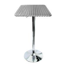 Silver Swirl Square Bistro Bar Table