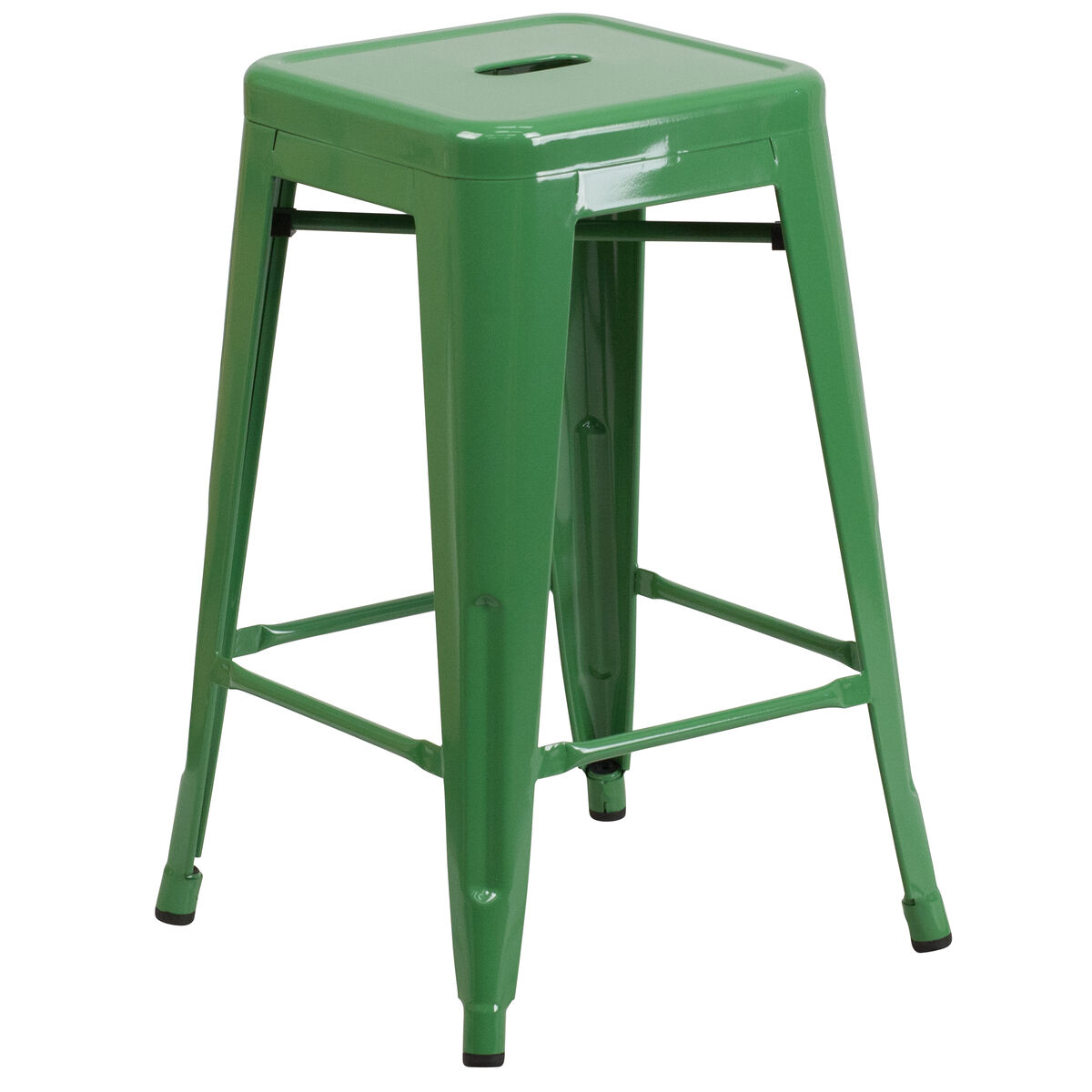 24 Quot Green No Back Metal Stool Ch 31320 24 Gn Gg Bizchair Com