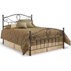 Sylvania Dynamic Style Metal Bed with Frame - Full - French Roast