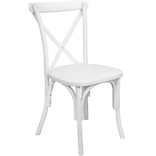 Our Advantage White Resin X-Back Chair is on sale now.