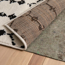 """Slide-Stop® Multi-Surface Reversible Non-Slip Cushion Rug Pad, 1/4"""" Thick, Floor Protection, for 4'x6' Area Rug, Gray"""