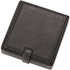 Watch and Cufflink Travel Case - Sedona New Bonded Leather - Black
