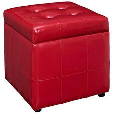 Volt Storage Ottoman in Red