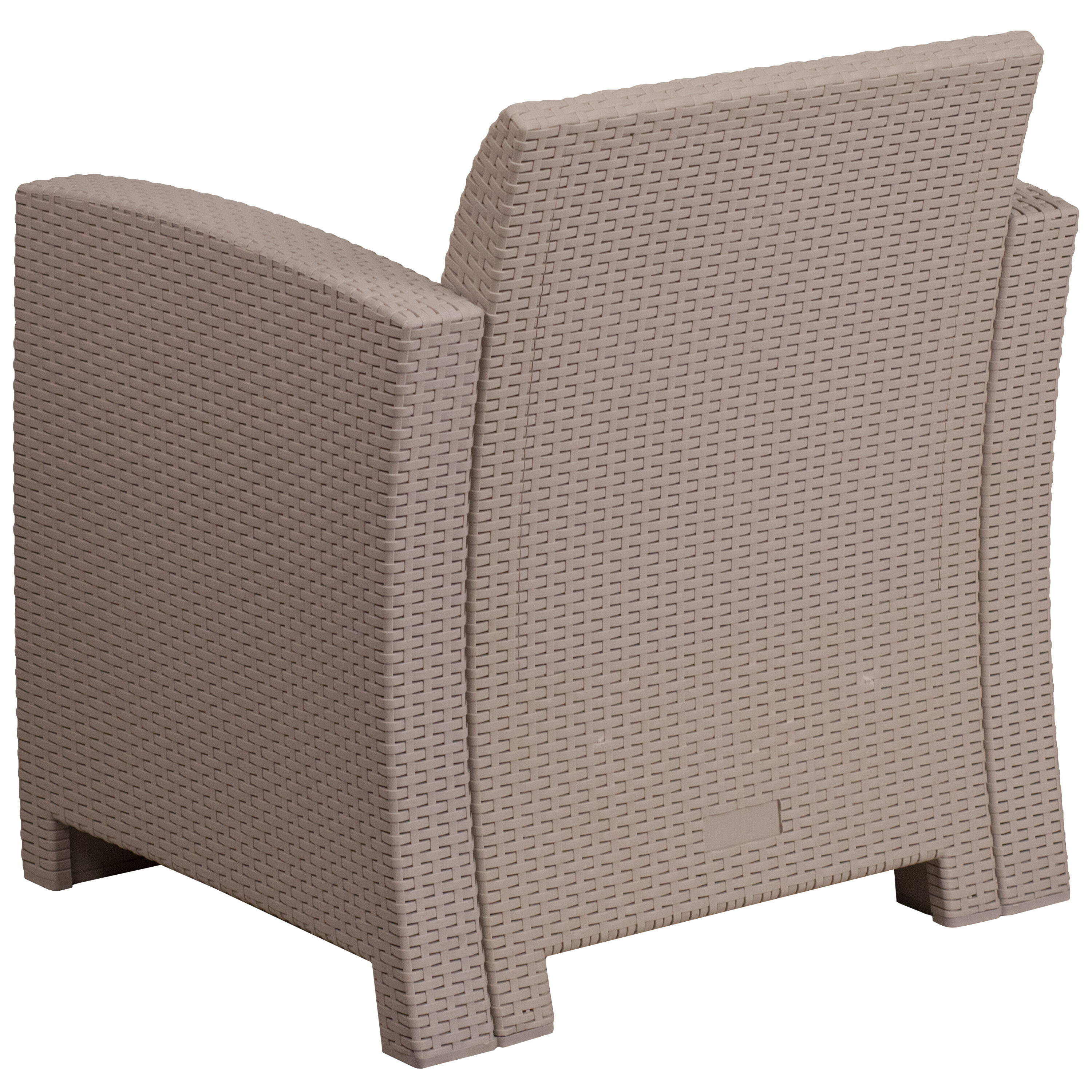 ... Our Light Gray Faux Rattan Chair With All Weather Light Gray Cushion Is  On Sale ...