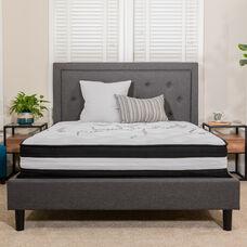 Capri Comfortable Sleep 12 Inch CertiPUR-US Certified Hybrid Pocket Spring Mattress, Full Mattress in a Box