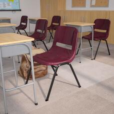 HERCULES Series 880 lb. Capacity Burgundy Ergonomic Shell Stack Chair with Black Frame
