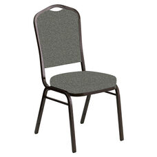 Crown Back Banquet Chair in Ribbons Heather Fabric - Gold Vein Frame