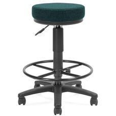 Adjustable Height UtiliStool with Stain Resistant Fabric and Drafting Kit - Teal