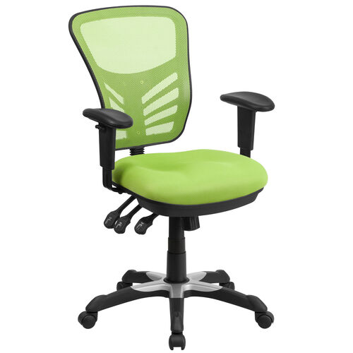 Our Mid-Back Green Mesh Multifunction Executive Swivel Ergonomic Office Chair with Adjustable Arms is on sale now.