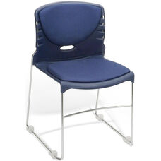 300 lb. Capacity Stack Chair with Fabric Seat and Back - Navy
