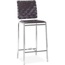 Criss Cross Counter Stool in Espresso