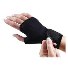 Dome Publishing Handeze Flex-fit Therapeutic Gloves - Medium Size - Wrist Strap - Fabric - Black