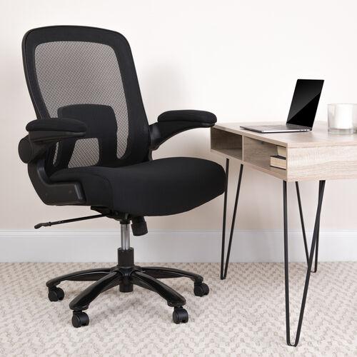 HERCULES Series Big & Tall 500 lb. Rated Mesh Executive Swivel Ergonomic Office Chair with Adjustable Lumbar