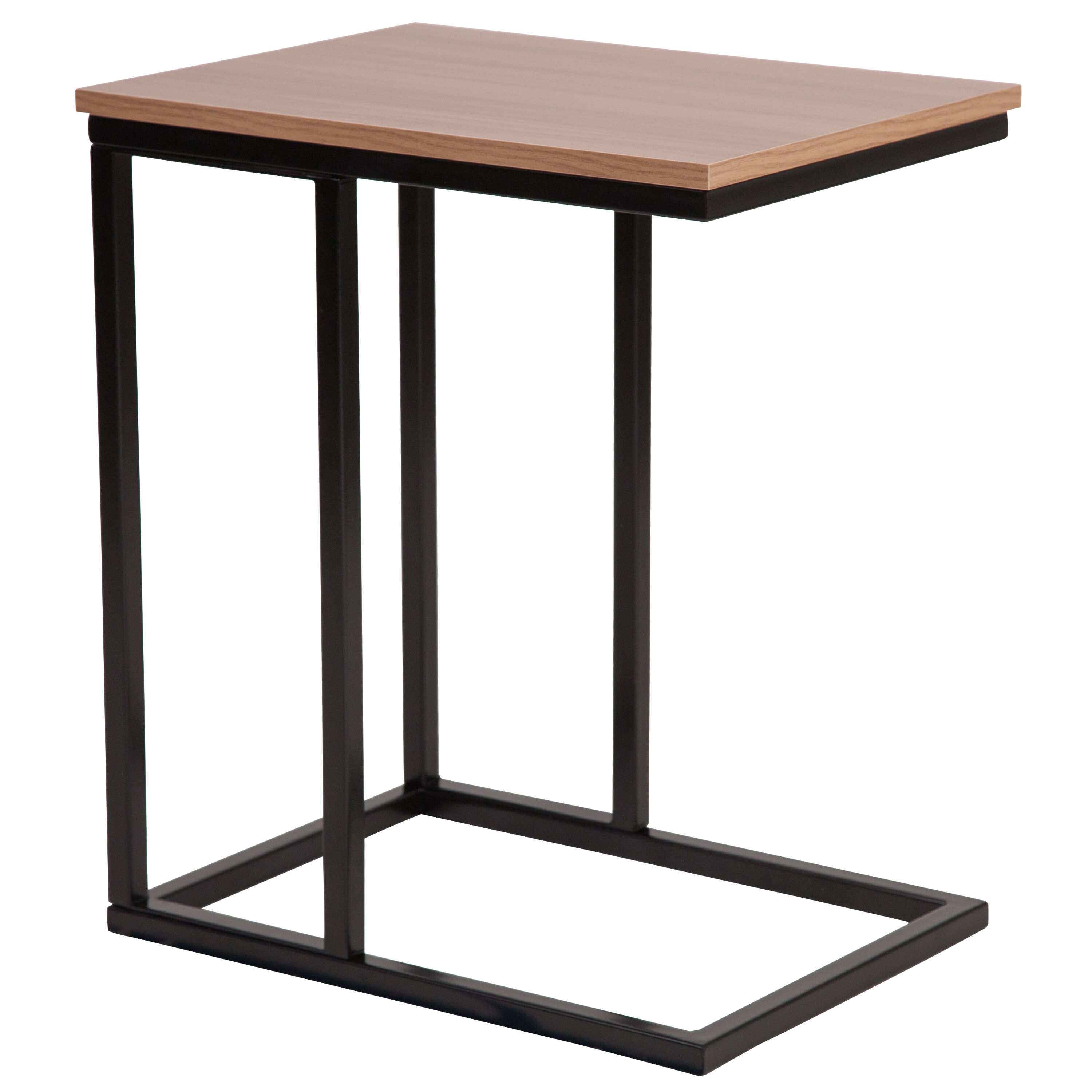 ... Our Aurora Rustic Wood Grain Finish Side Table With Black Metal  Cantilever Base Is On Sale ...