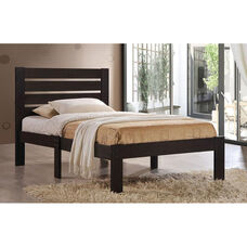 Kenney Slatted Wood Bed - Queen - Espresso
