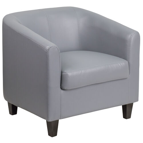 Our Gray LeatherSoft Lounge Chair is on sale now.