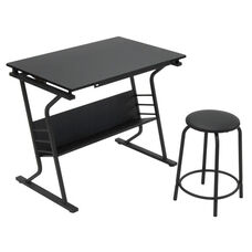 Eclipse 2 Piece Contemporary Craft Table and 20