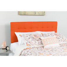Bedford Tufted Upholstered Full Size Headboard in Orange Fabric