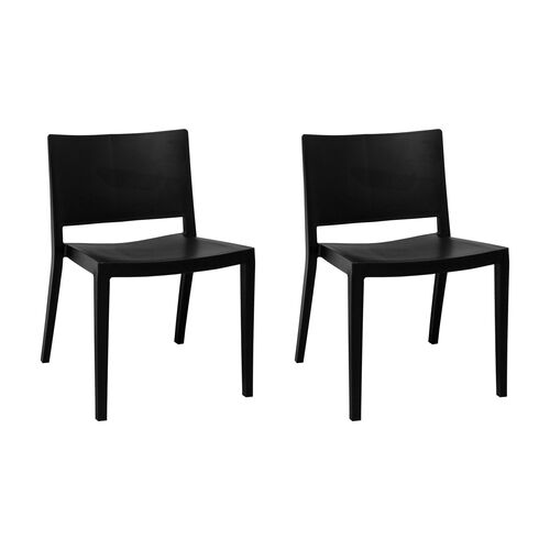 Our Elio Stackable Sturdy Black Plastic Chair - Set of 2 is on sale now.