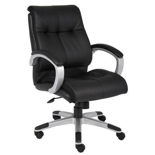 Our Double Plush Mid Back Executive Chair with Padded Arms - Black is on sale now.