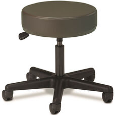 Pneumatic Adjustable Medical Stool - Gun Metal with Black Base